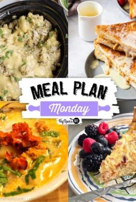 Hey Y'all welcome back to Meal Plan Monday where you receive recipes chosen from bloggers all around the world!  This week we have a delicious soup, a hearty quiche, a to die for peanut butter French toast, and a Southern Plate favorite for your Thanksgiving Planning.