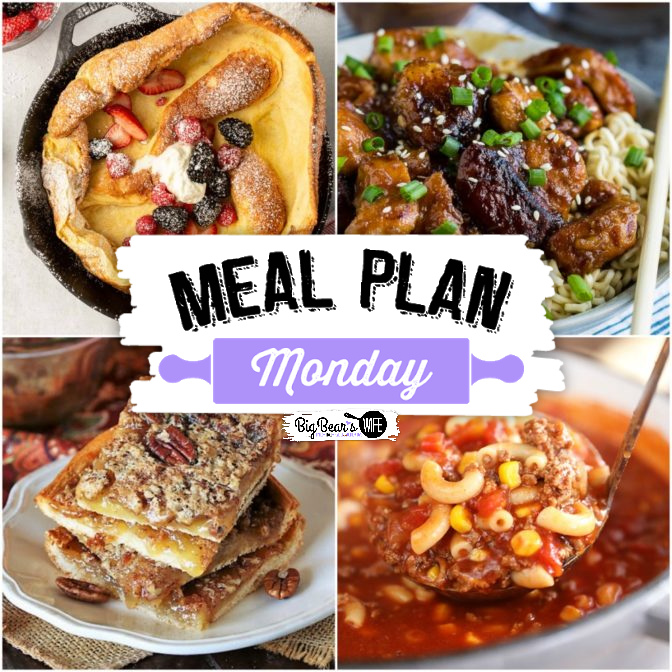 Hey, y'all! It's time for another delicious edition of Meal Plan Monday!  Now, we know there's a big food holiday coming up soon, but you've got to eat between now and then so we've gathered up another delicious round of recipes to help make feeding the fam super easy!