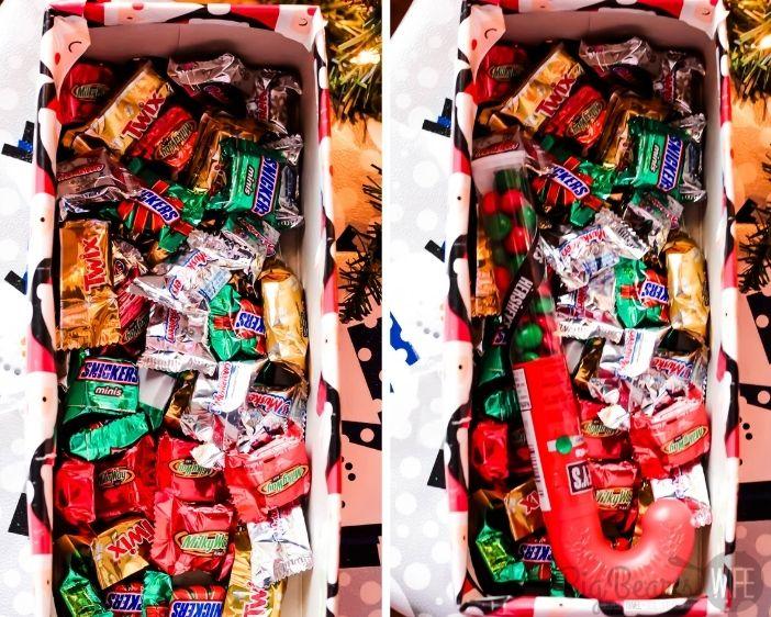 Filling a Christmas Shoebox