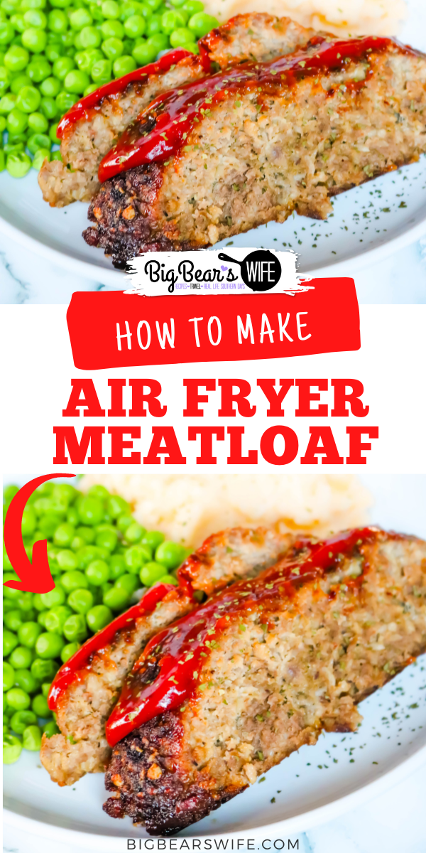 This easy Air Fryer Meatloaf is made with ground beef and ground turkey along with some great seasonings. It takes less than 45 minutes to cook and it is absolutelydelicious. via @bigbearswife