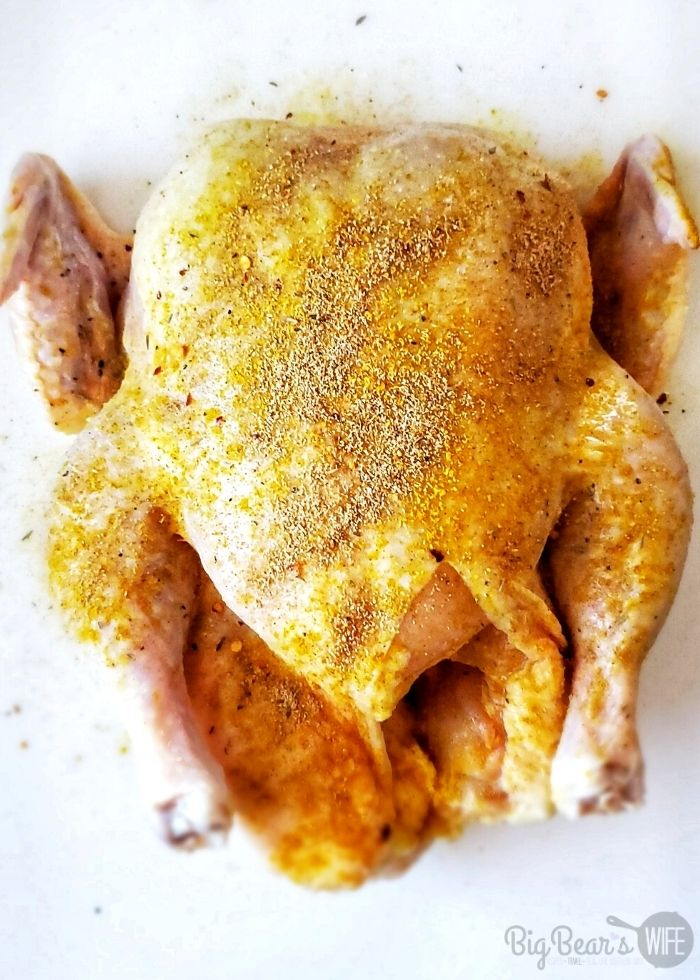Have you cooked a whole chicken in the air fryer? If not, you need too! Air Fryer Roast Chicken is so easy and taste almost like a rotisserie chicken!