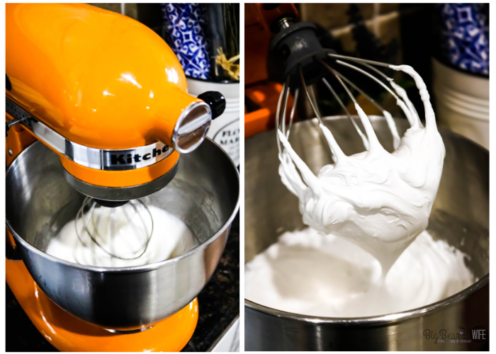 Whipping Egg Whites with Orange Kitchen aid Mixer