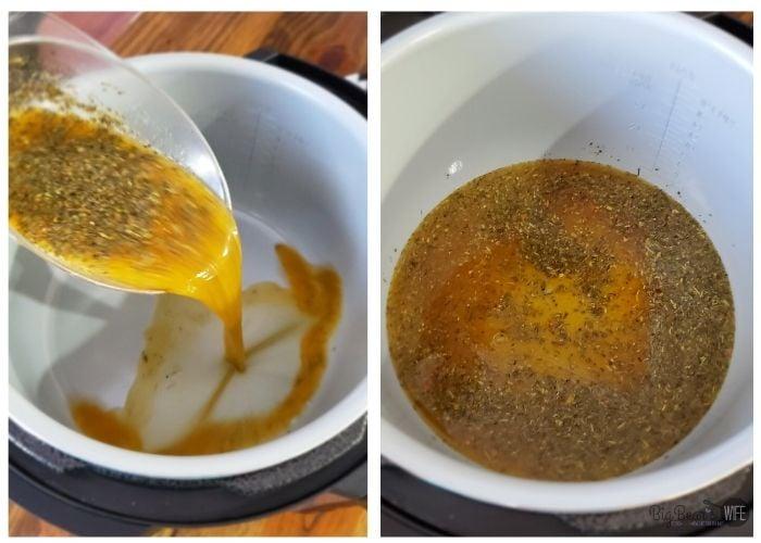 seasoning in Instant Pot