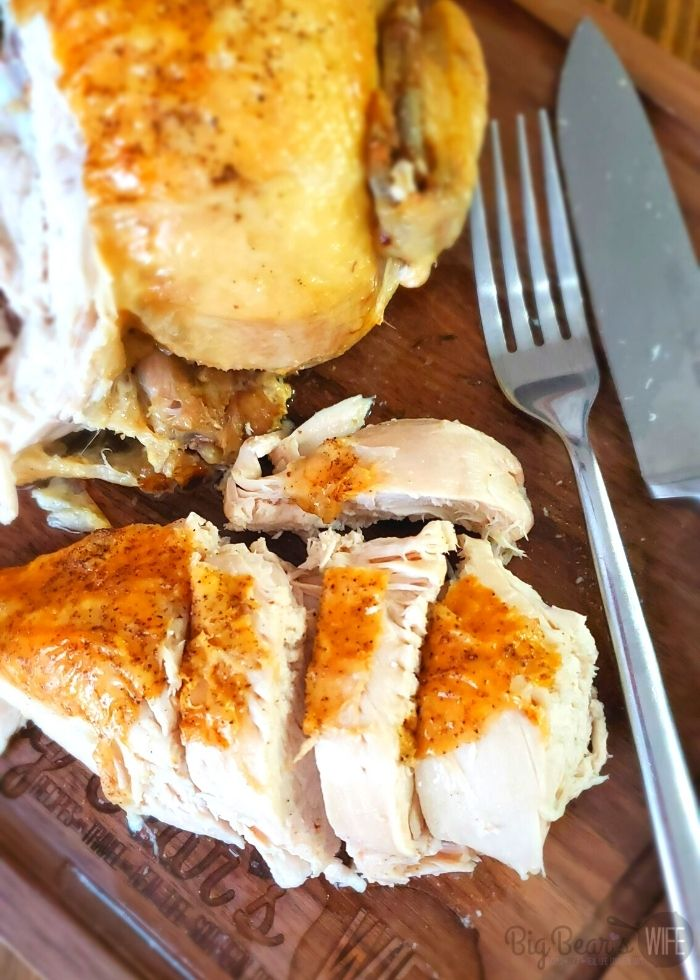 Ninja Foodie Instant Pot Whole Roast Chicken - If you have a Ninja Foodie you'll want this easy recipe for Ninja Foodie Instant Pot Whole Roast Chicken! Use the Instant Pot setting to cook the chicken and the air fryer setting to crisp the skin!