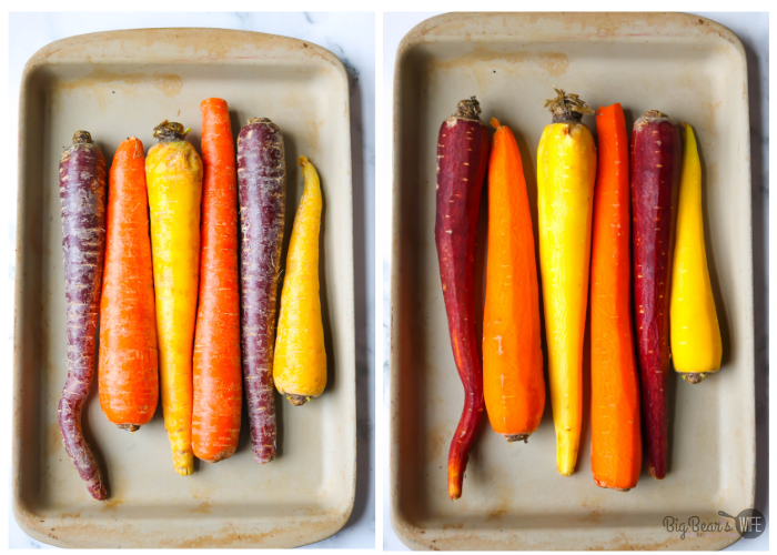rainbow carrots whole and peeled