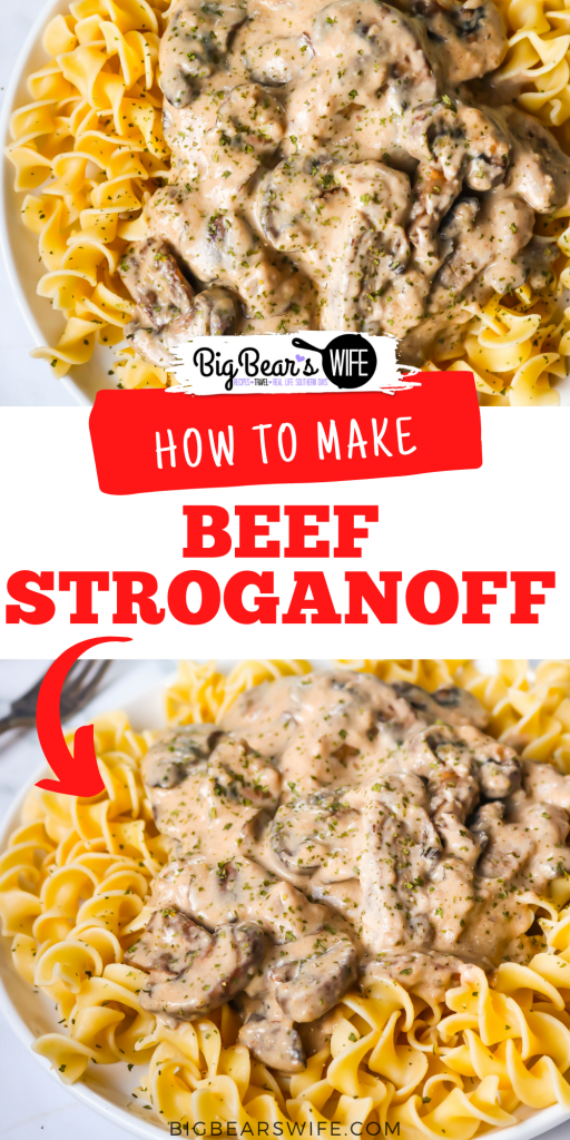 This super easy Beef Stroganoff is cooked with stripes of beef and lots of mushrooms is a delicious, creamy Stroganoff sauce. Perfect when served over egg noodles, rice or mashed potatoes.
