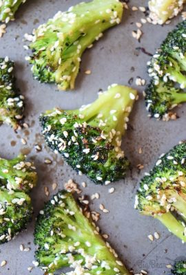 OVEN ROASTED SESAME BROCCOLI