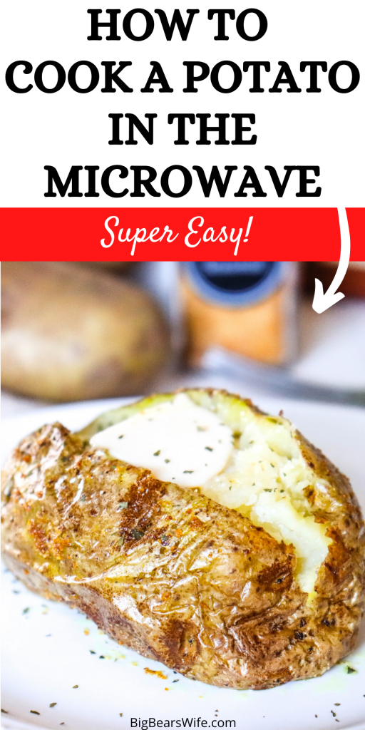 Love Baked Potatoes but short on time? No problem! I'll show you How to Cook a Potato in the Microwave in 5-10 minutes!