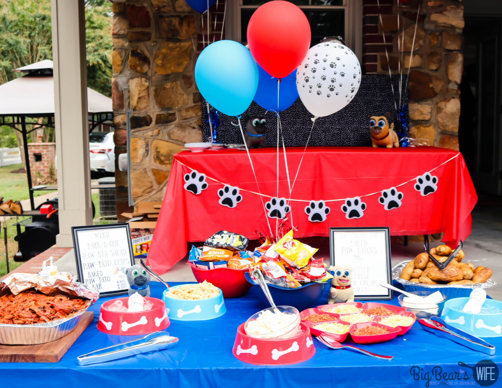 _Puppy Dog Pals Birthday Party Food Table (1)