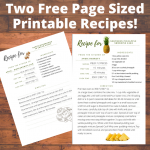 Free Page Sized Printable Recipes – Baked Mushrooms in Cream Sauce and Southern Pineapple Sunshine Cake