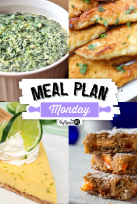 Welcome to Meal Plan Monday 260! We're featuring recipes like, Easy Homemade Creamed Spinach , Parmesan Crusted Chicken Romano (Cheesecake Factory Copycat), Old Fashioned Orange Slice Bars and a wonderful Key Lime Tart!