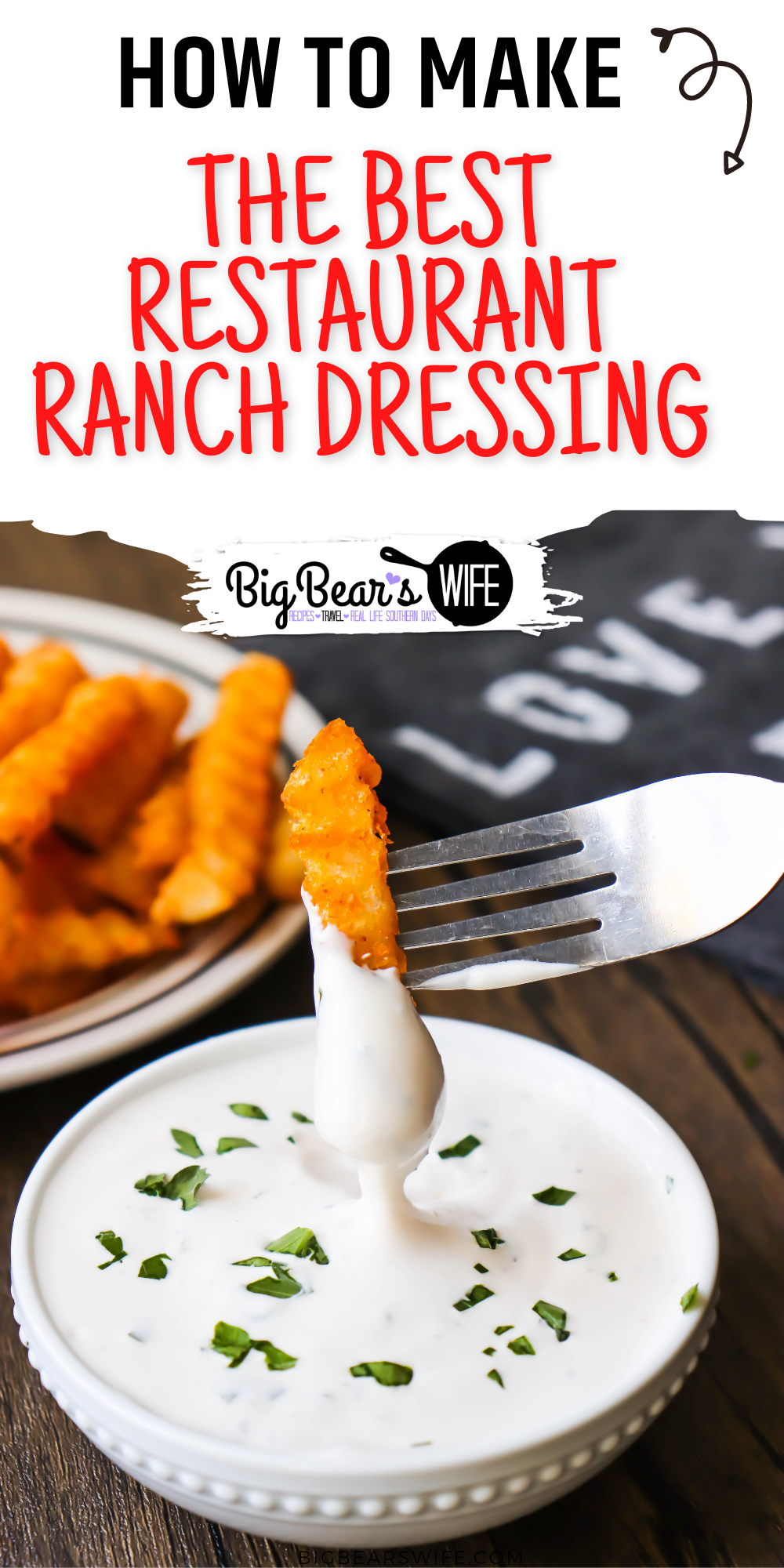 This CopycatRockola Ranch Dressing Recipe is pretty much 100% like the restaurant ranch dressing that was served at Rockola Cafe! It's by far the BEST ranch ever! via @bigbearswife