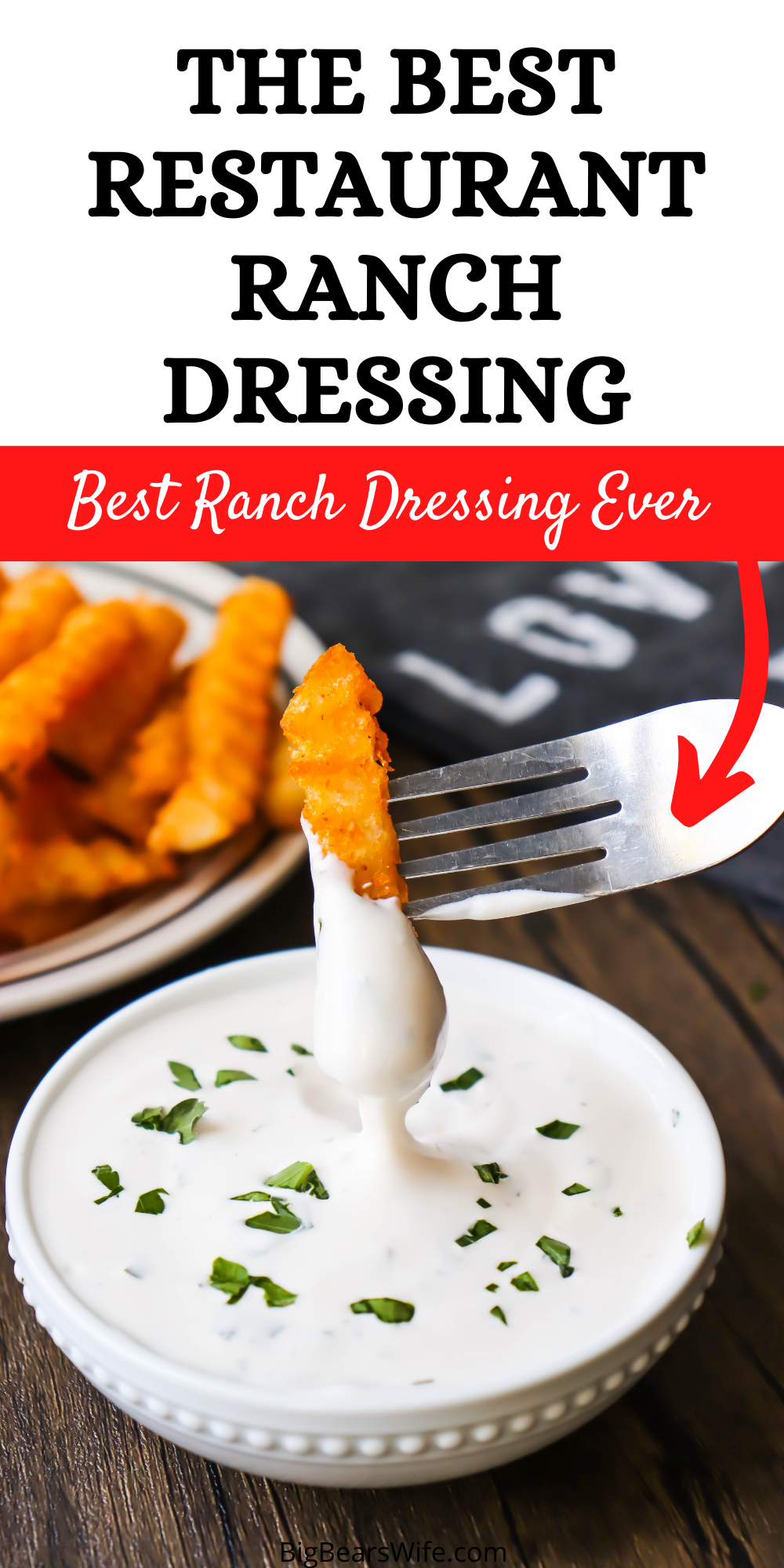 This Copycat Rockola Ranch Dressing Recipe is pretty much 100% like the restaurant ranch dressing that was served at Rockola Cafe! It's by far the BEST ranch ever!  via @bigbearswife