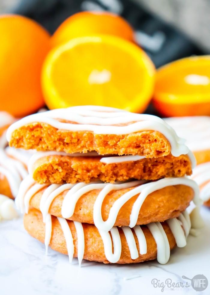 inside of Orange Creamsicle Cookies