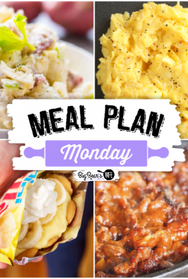Meal Plan Monday 268 - featuring recipes like Walking Banana Pudding, Best Ever Cowboy Baked Beans, Best Creamy Dill Red Skin Potato Salad and a recipe for the Perfect Scrambled Eggs from Southern Bite!