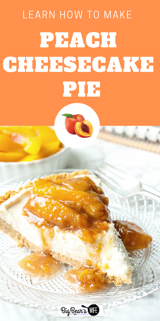 This chilled and creamy Peach Cheesecake Pie has a homemade graham cracker crust and is topped with a delicious peach sauce!
