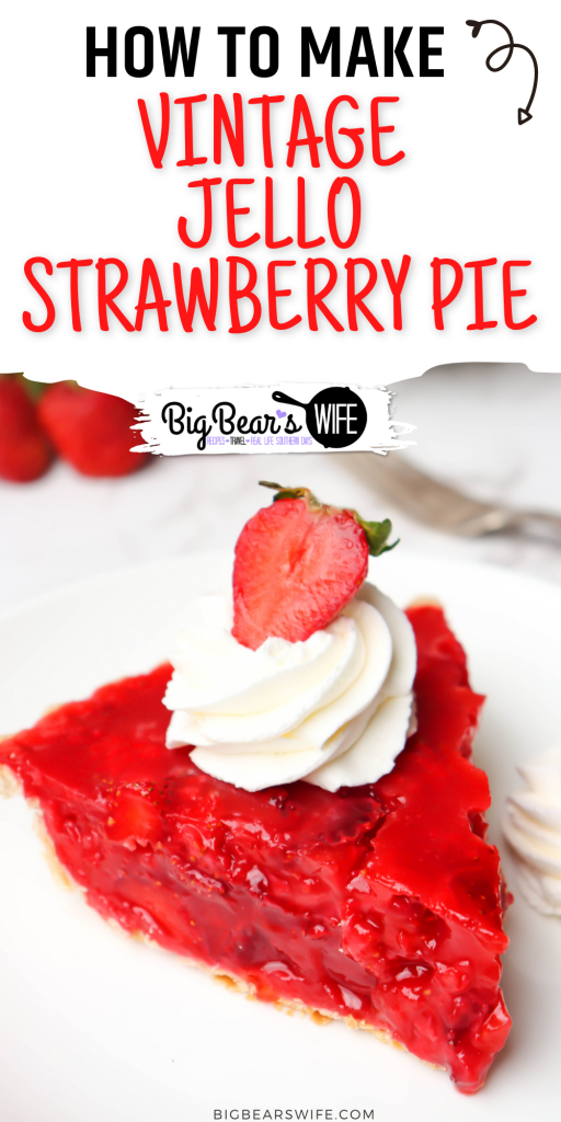 This easy Vintage Jello Strawberry Pie is the perfect dessert to make with all of those fresh summer strawberries! This pie reminded me of the Shoney'sStrawberry Pie that we use to get as kids!
