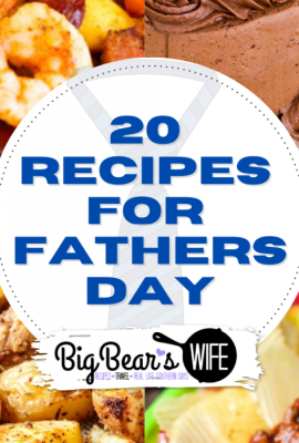 Father's Day 2021 is Sunday, June 20, 2021! I've gathered up some great recipes that are perfect for Father's Day! From Breakfast, to lunch to dinner and dessert, you're sure to find something delicious in this list that dad would love with these awesome Fathers Day Recipes!