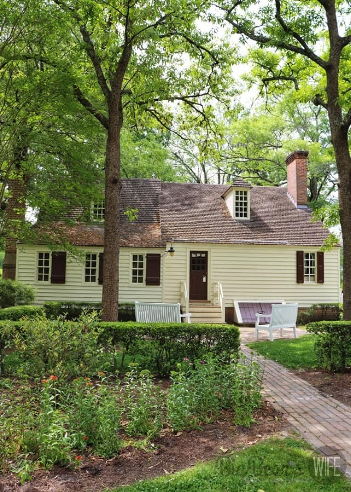 Back of the George Jackson house in Colonial Williamsburg