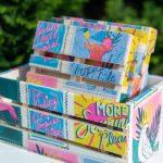 Dollar Tree Tropical DIY Napkin Mini Pallet Coasters