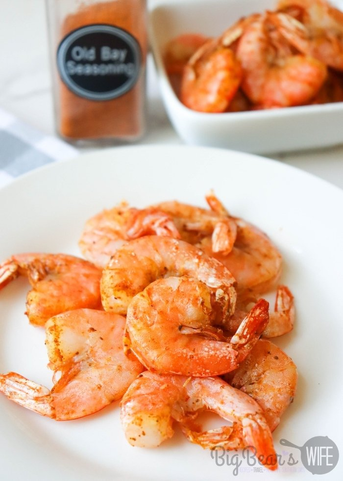 Cooked Shrimp on a white plate