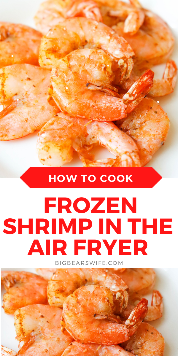 Have you ever wanted to cook Shrimp in the air fryer? This is How to cook Frozen Shrimp in the Air Fryer so that it turns out delicious every time! I'll also show you how NOT to cook it!  via @bigbearswife