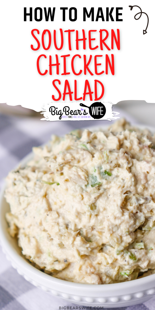 This Southern Chicken Salad Recipe is great for Chicken Salad Sandwiches or as a spread for crackers. My Southern Chicken Salad Recipe is my copycat version of the famous Midtown Market Chicken Salad!