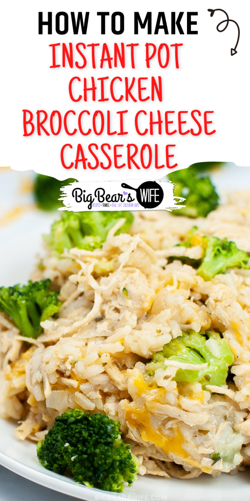 Make a homemade Instant Pot Chicken Broccoli Cheese Casserole in your instant pot for a one pot, family favorite meal that is easy on time and budget.