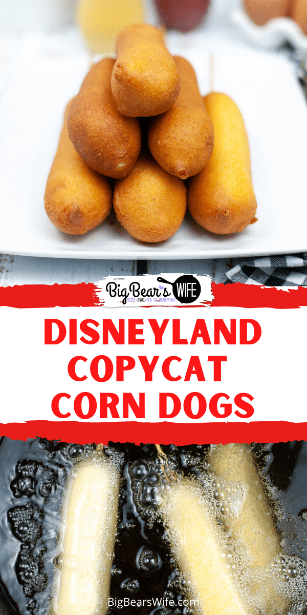 Fallen in love with Disneyland Corn Dogs? Wishing you would make it to Disneyland for the famous corn dogs? Make them at home with this great recipe for Disneyland Copycat Corn Dogs!   via @bigbearswife