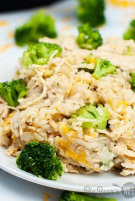 Instant Pot Chicken Broccoli Cheese Casserole