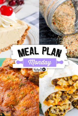 Welcome to this week's Meal Plan Monday! We're featuring some amazing recipes from last week's Meal Plan Monday, like Air Fryer Pork Chops from No Plate Like Home, Copycat Emeril's Essence Seasoning from The Speedy Gourmet, How To Make Perfect No Bake Vanilla Cheesecake from Kitchen Mason, Gluten-Free Breakfast Burritos from Mommy Hates Cooking and Cherry Coke Float Pie from BigBearsWife!