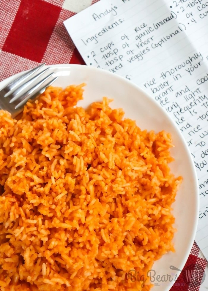 Overhead shot of MEXICAN RICE (1)