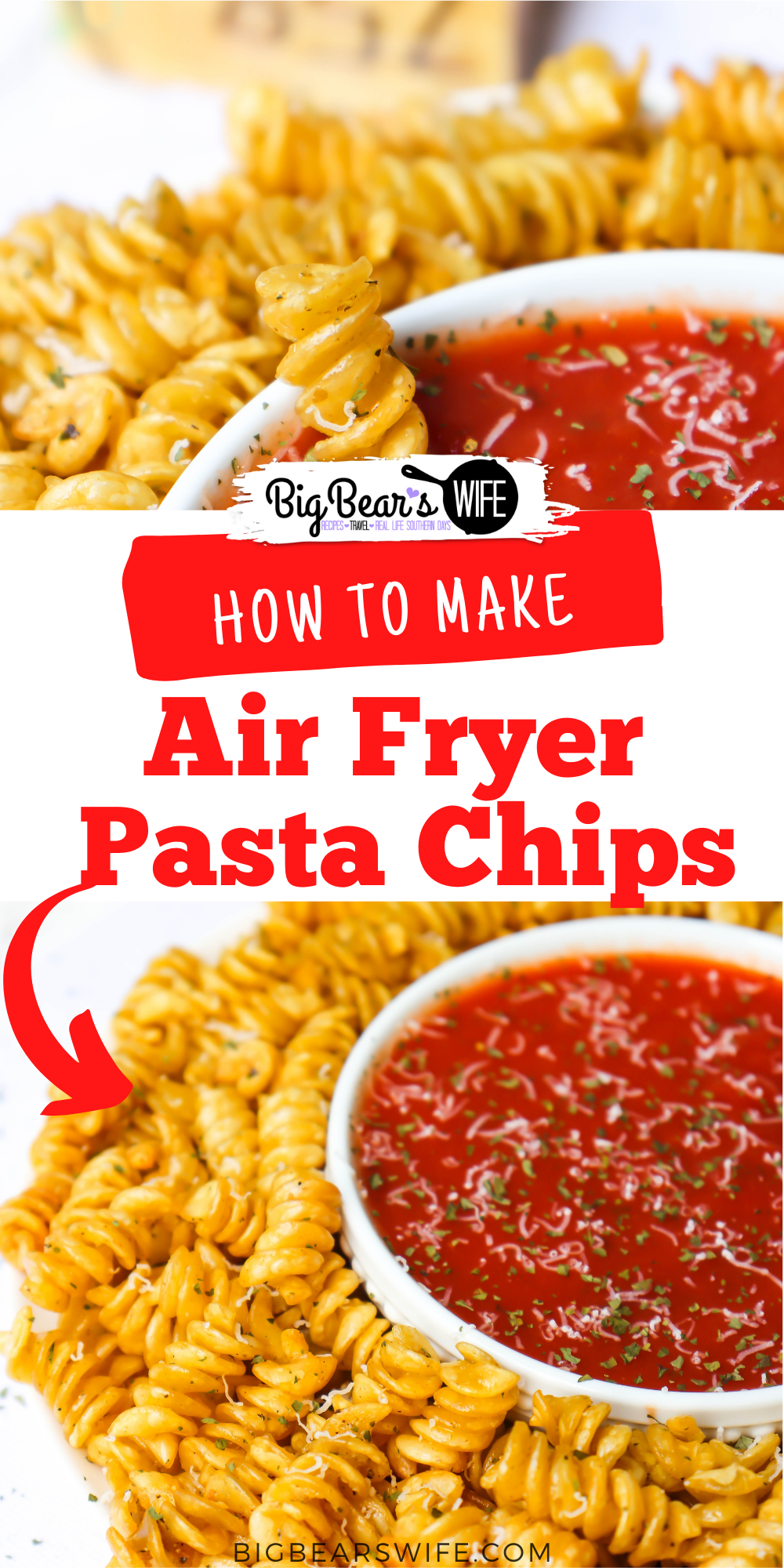 Crispy Air Fryer Pasta Chips are made with al dente pasta, grated parmesan, Badia's Complete Seasoning and a bit of olive oil in the air fryer! Perfect little snack bites for an appetizer tray or to snack on while watching a movie! via @bigbearswife