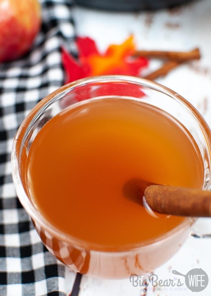 Apple Cider in a clear mug