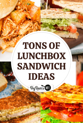 If you need to pack lunches for school or work this year, you're going to want these recipes, ideas and tips and tricks with all of these Lunchbox Sandwich Ideas!