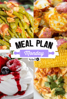 Welcome to this week's Meal Plan Monday! So many awesome recipes to help with meal planning this week! We're featuring recipes like, Air Fryer Crispy Garlic Parmesan Potatoes, Texas Style Barbeque Wings, Mini Pavlovas, Crockpot Chicken Enchilada Casserole and Instant Pot Southern Green Beans!