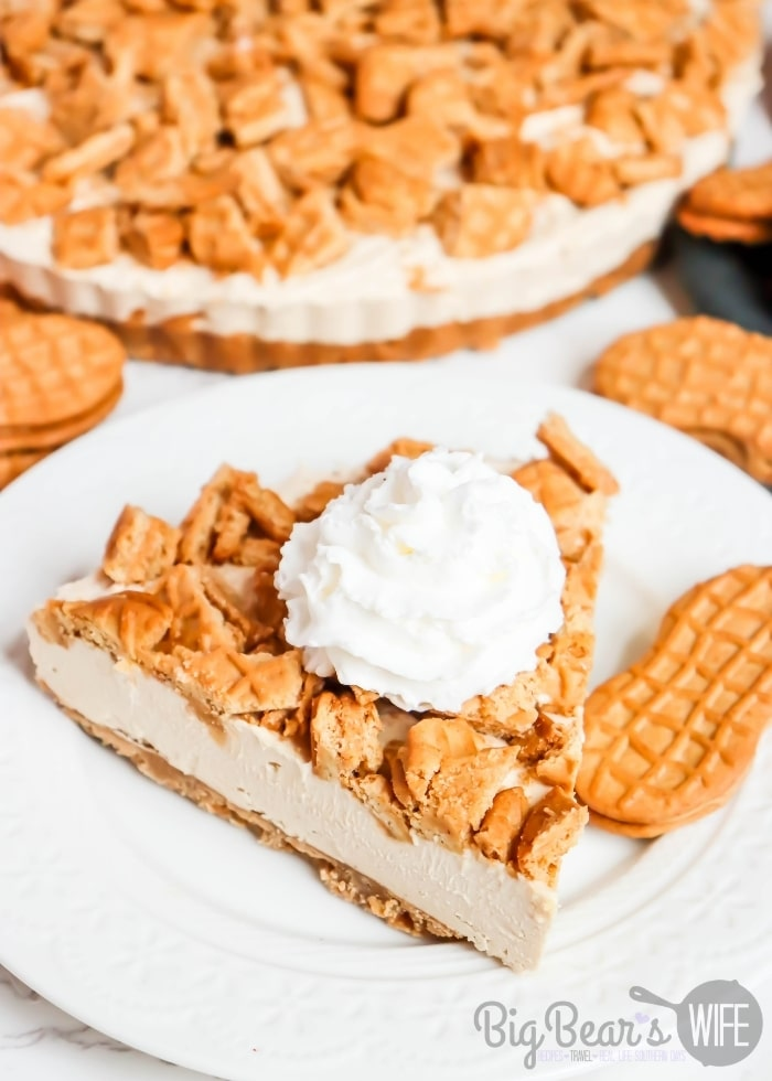 piece of NUTTER BUTTER PEANUT BUTTER PIE with whipped topping