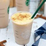 Copycat Starbucks Iced Chai with Pumpkin Sweet Cream Foam