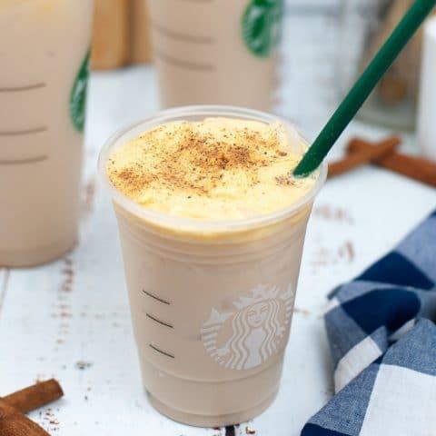 Starbucks Copycat Iced Chai with Pumpkin Sweet Cream Foam (1)