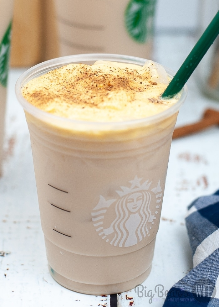 This Starbucks Copycat Iced Chai with Pumpkin Sweet Cream Foam is so easy to make and it's the perfect coffee house drink to make to make at home.