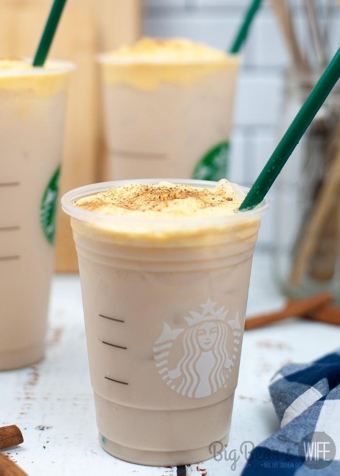 Starbucks Copycat Iced Chai with Pumpkin Sweet Cream Foam