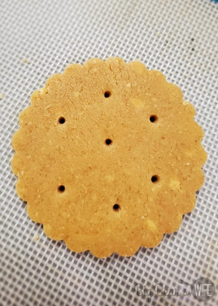 unbaked cookie with holes