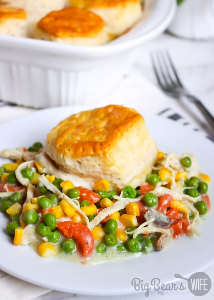 A serving of Biscuit Topped Chicken Pot Pie (1)