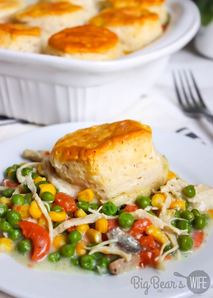 A serving of Biscuit Topped Chicken Pot Pie (2)