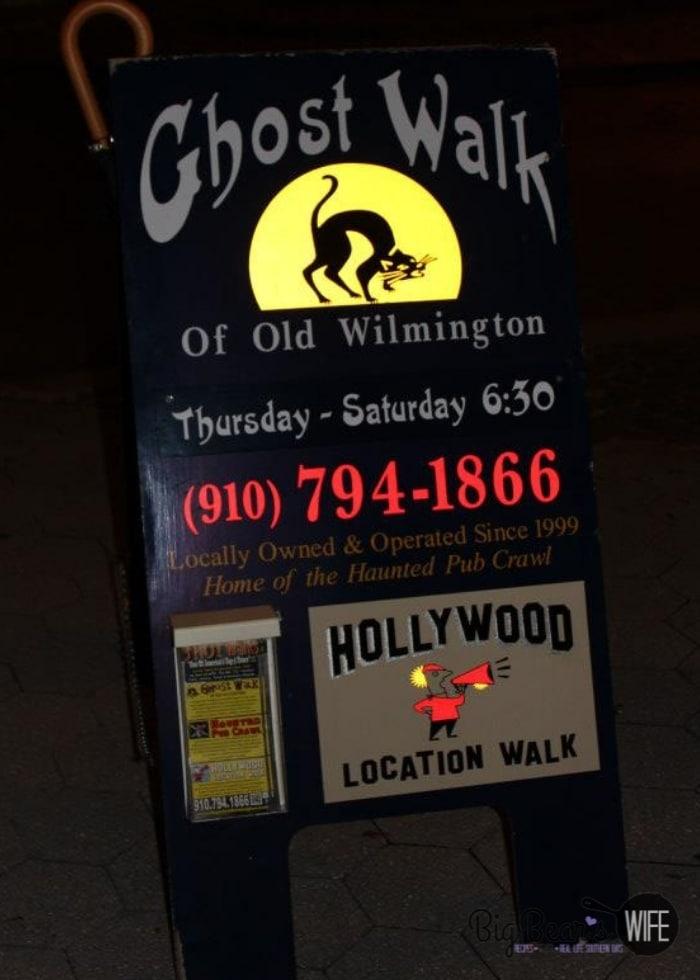 Wilmington Ghost Walk Sign