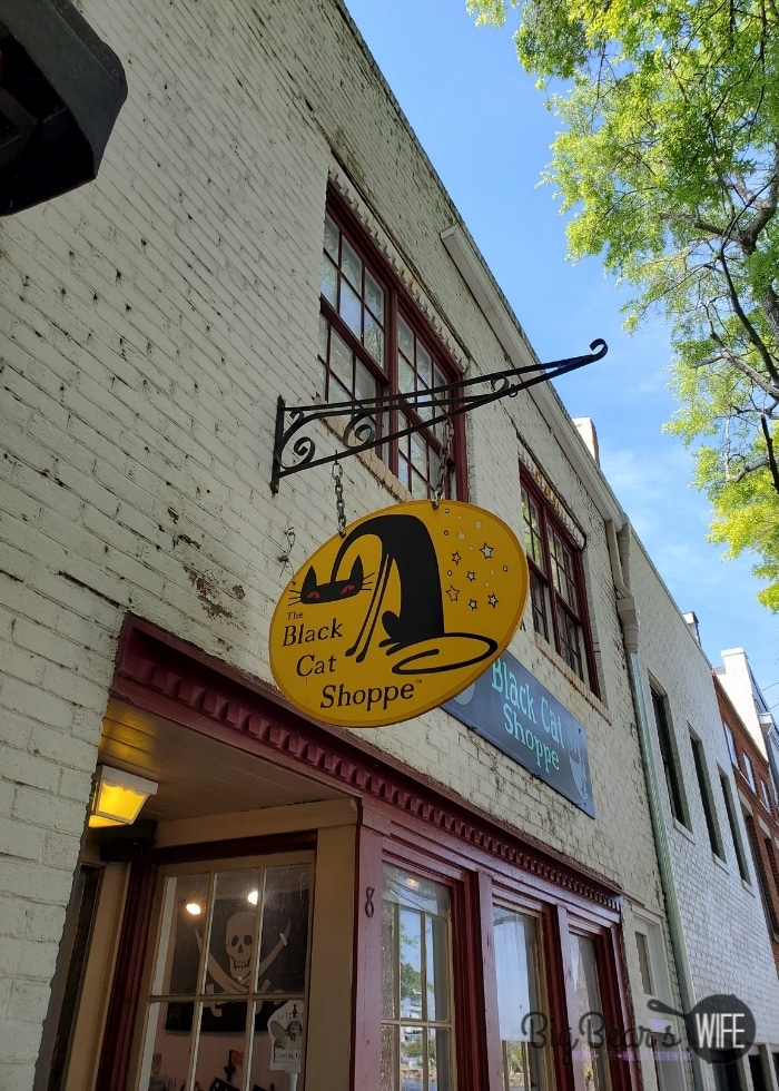 The black cat shoppe sign in wilmington