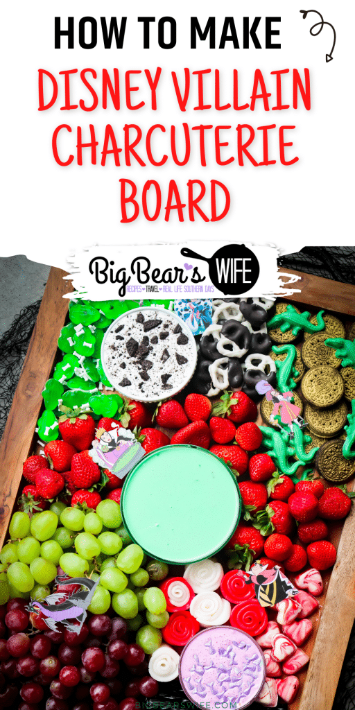 We're celebrating all of the Disney Villains with this Disney Villain Charcuterie Board! It is a fun Disney Snack board to celebrate our favorite Villains for Halloween!