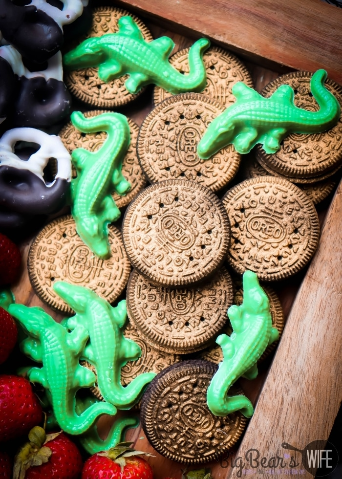 Gold Oreos and Green Chocolate Crocodiles