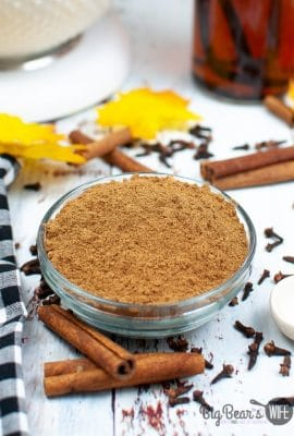 Ginger, Allspice, Cinnamon, Cloves and Nutmeg are whisked together to create a homemade pumpkin pie spice that is perfect for baking and smells amazing!