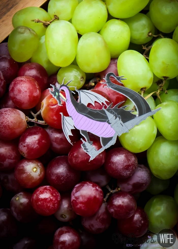 Maleficent dragon and grapes